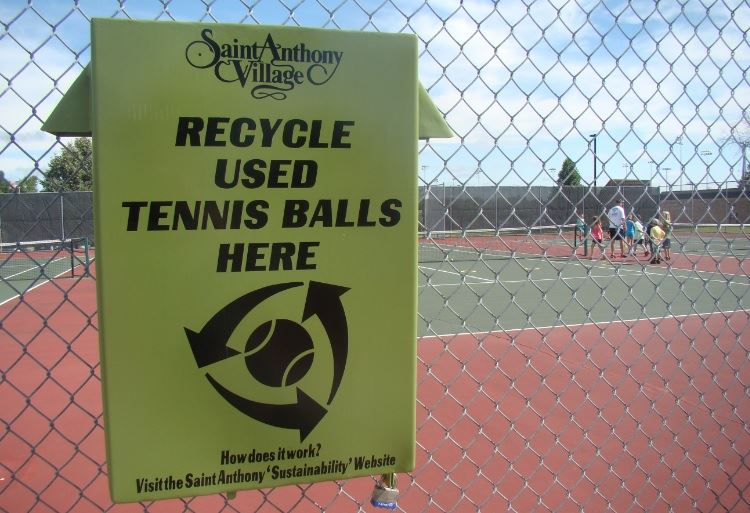 Tennis Ball Recycling Sign