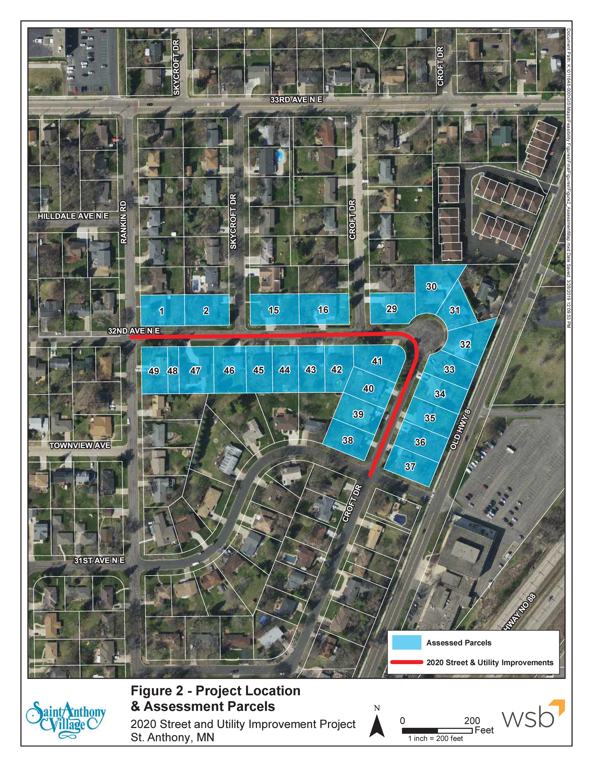 2020 Projects Assessment Parcels Map 32nd Avenue