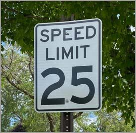 25 mph speed limit