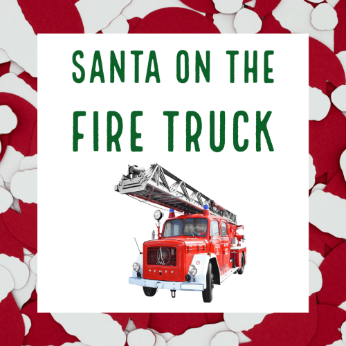 Santa on the Fire Truck FD News
