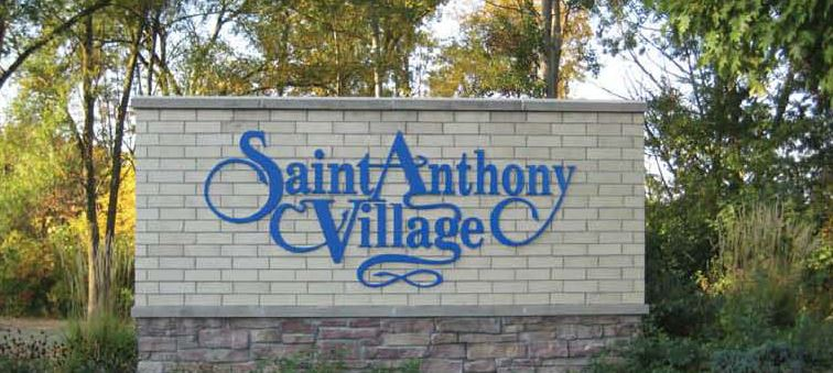 Saint Anthony Village Sign